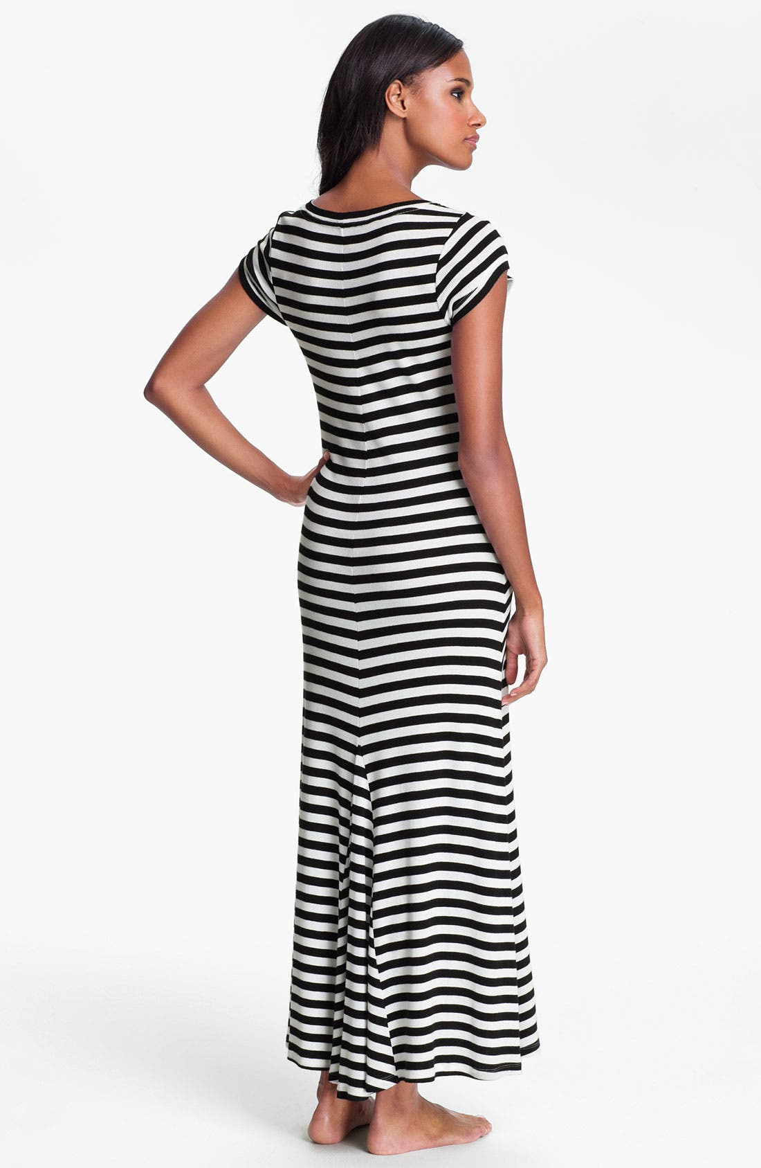 Alternate Image 2  - Lauren Ralph Lauren Stripe Knit Maxi Gown