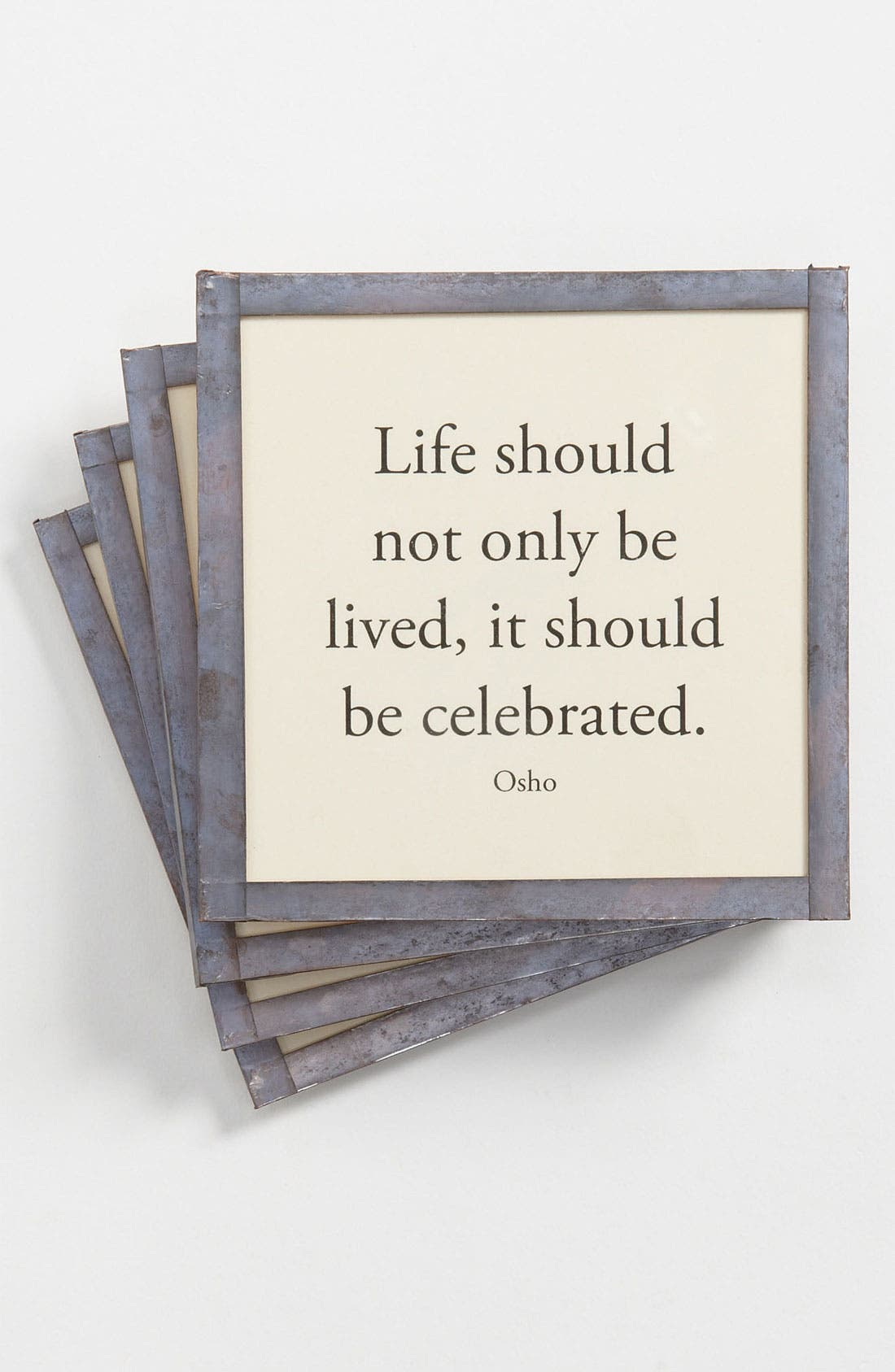 Main Image - Ben's Garden 'Life Should Not Only Be Lived' Coaster Set