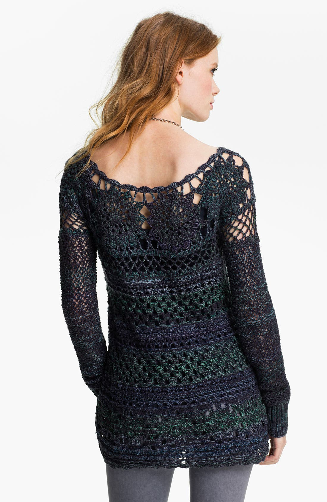Alternate Image 2  - Free People 'Ring of Roses' Crochet Sweater