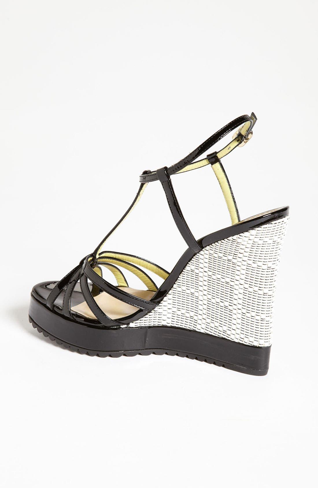 Alternate Image 2  - Pollini Woven Wedge Sandal