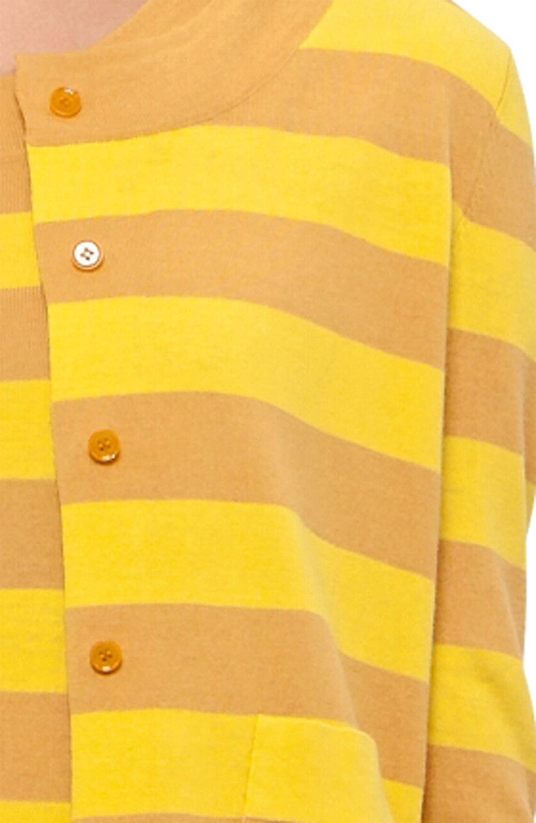 Alternate Image 5  - Akris punto Stripe Wool Cardigan