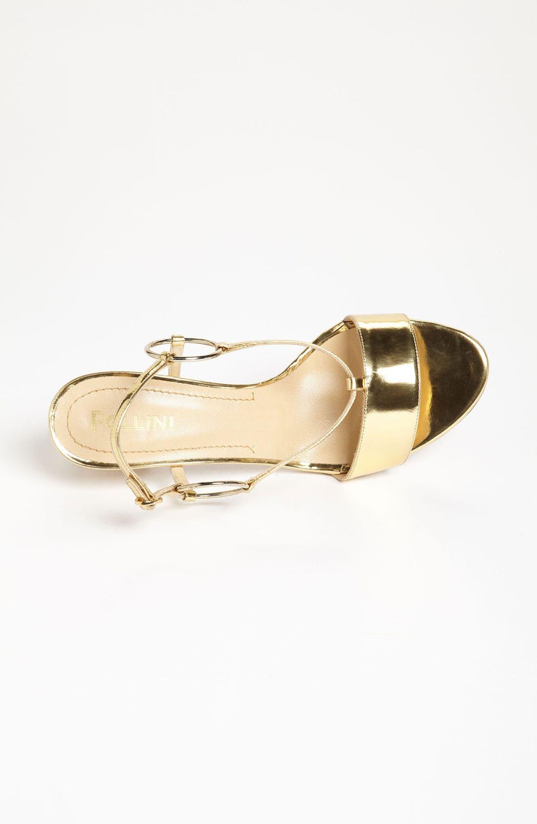 Alternate Image 3  - Pollini Metallic Mid Sandal