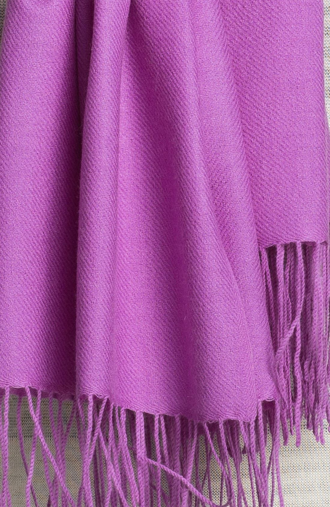 Alternate Image 2  - Nordstrom Tissue Weight Wool & Cashmere Wrap