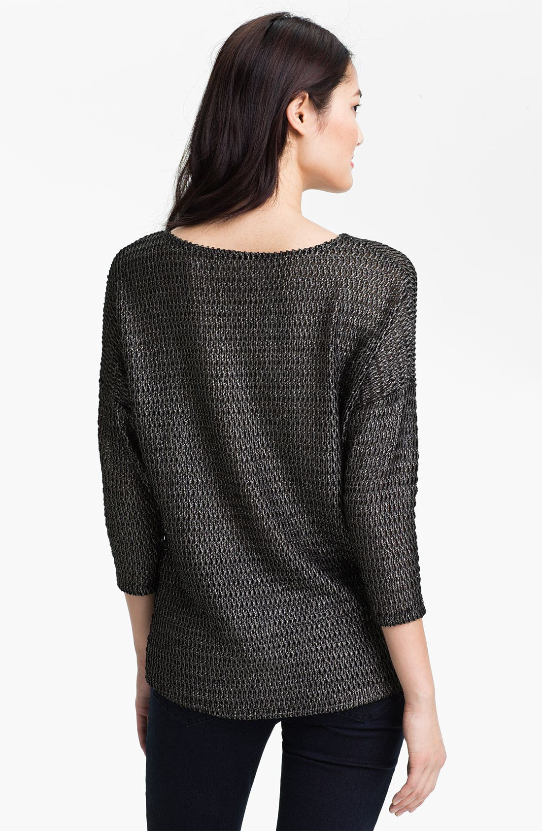 Alternate Image 2  - Two by Vince Camuto Metallic Knit Sweater