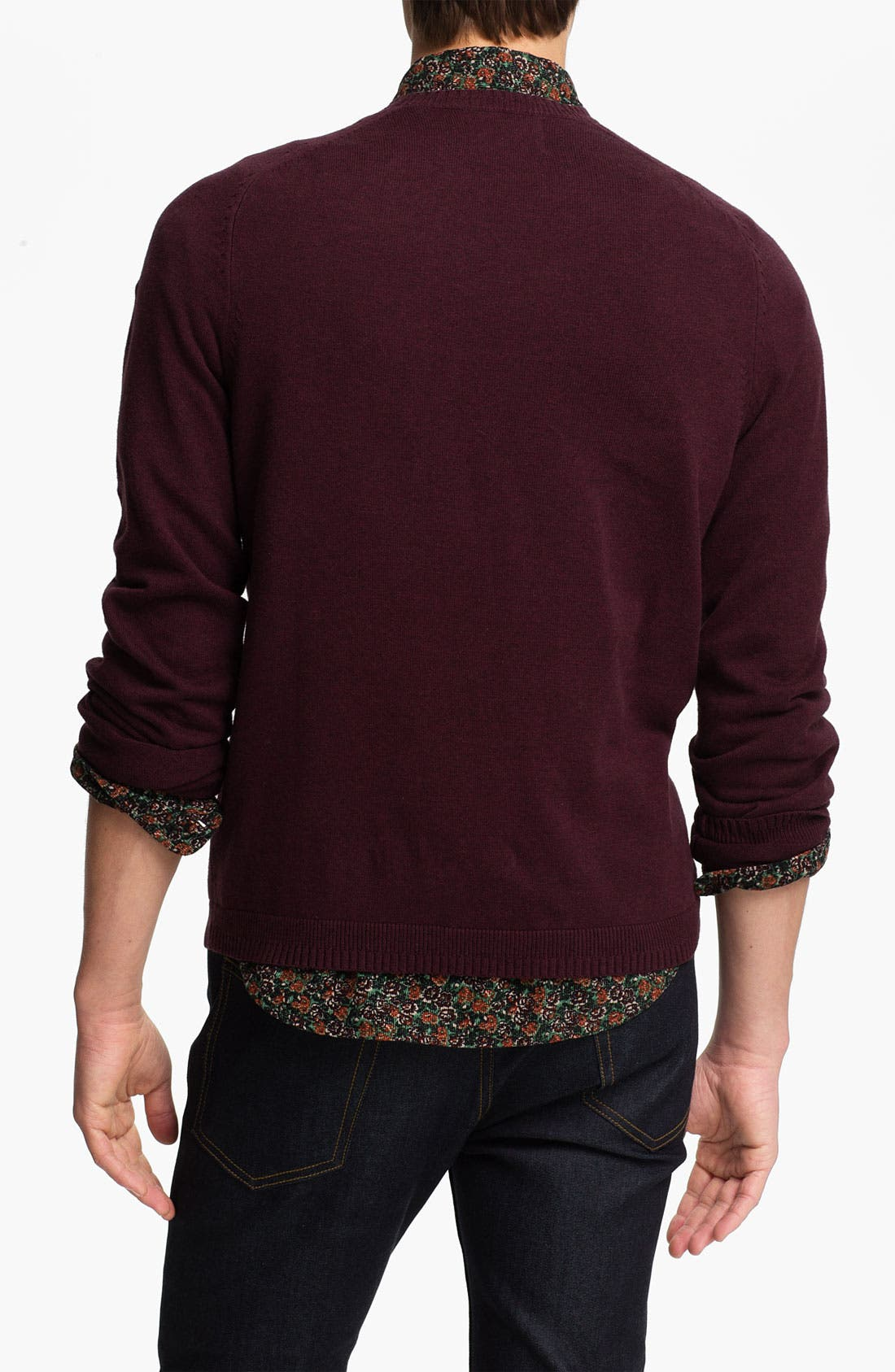 Alternate Image 2  - Topman Pocket Crewneck Sweater