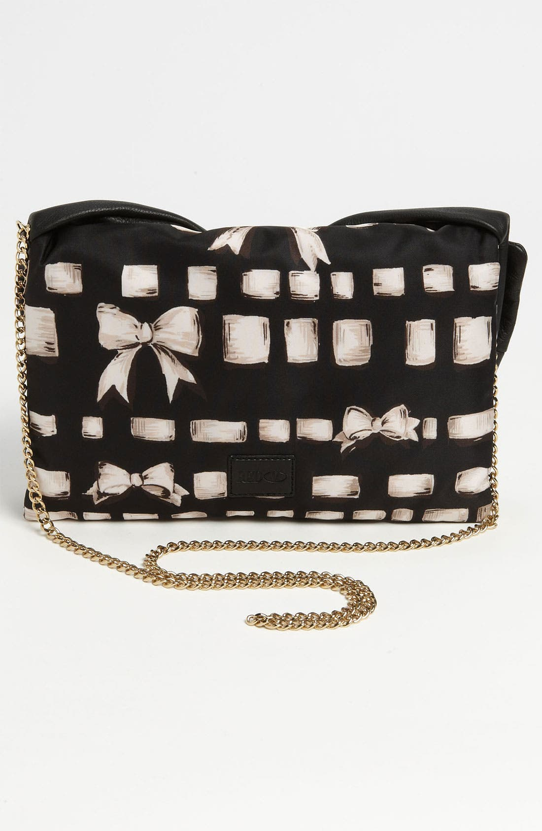 Alternate Image 5  - RED Valentino 'Bow' Print Clutch