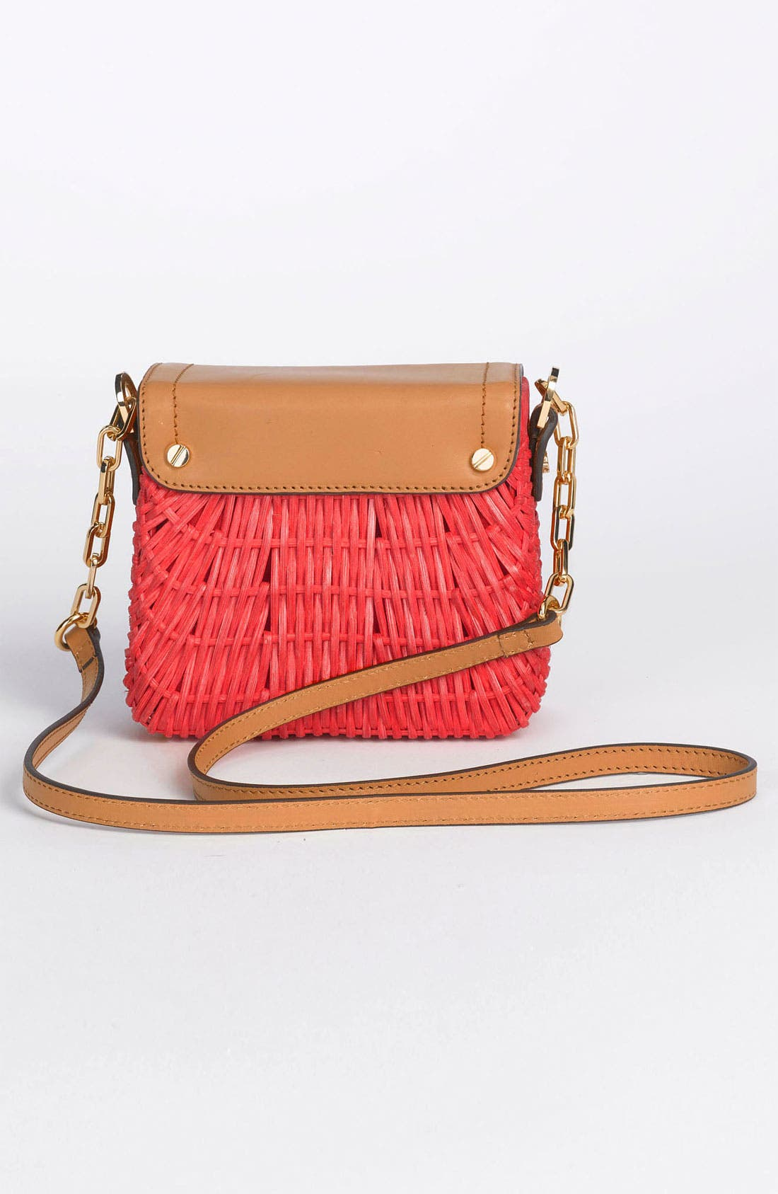 Alternate Image 4  - Tory Burch 'Mini' Lacquered Rattan Crossbody Bag