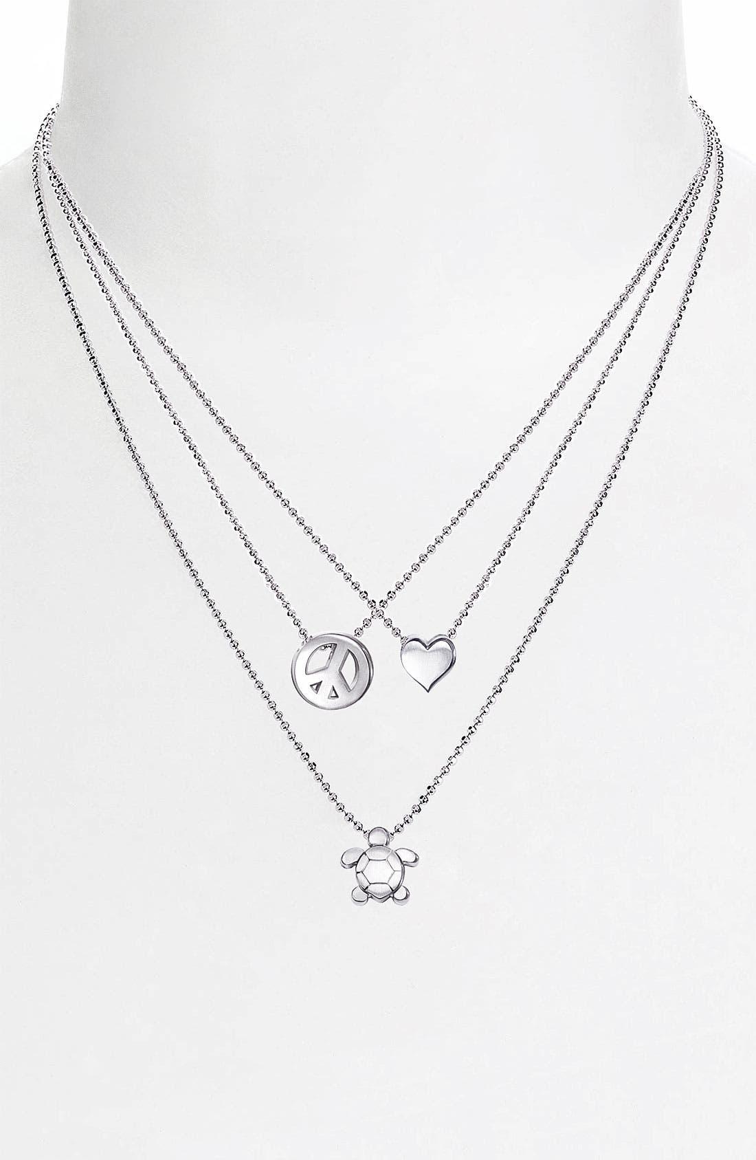 Alternate Image 2  - Alex Woo 'Little Seasons' Sea Turtle Pendant Necklace
