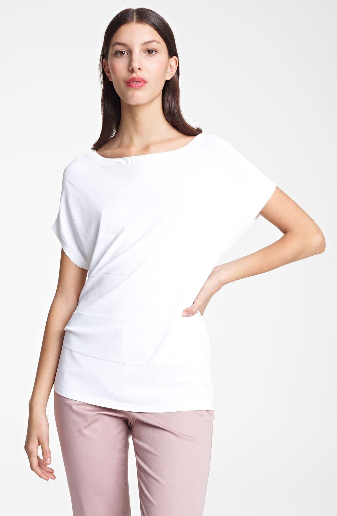 Alternate Image 1 Selected - Armani Collezioni Stripe Oversized Knit Top