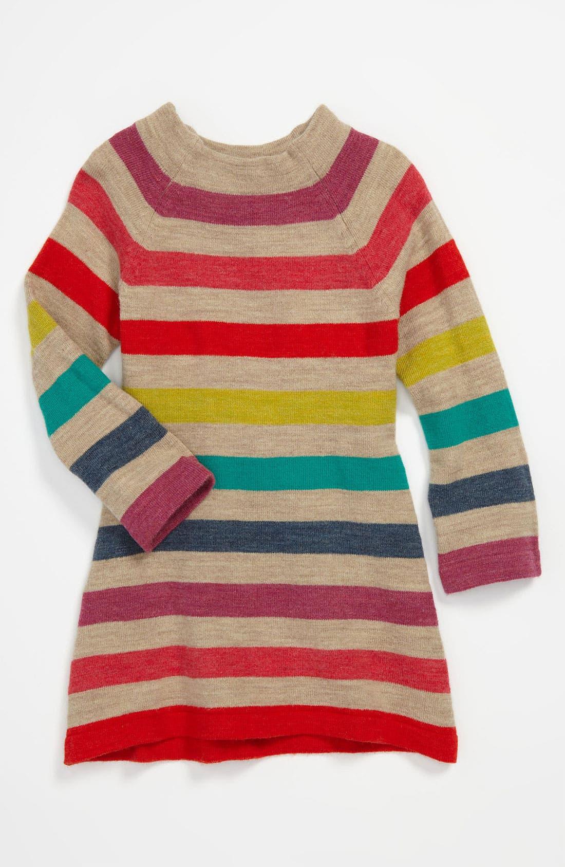 Alternate Image 1 Selected - United Colors of Benetton Kids Stripe Knit Dress (Infant)