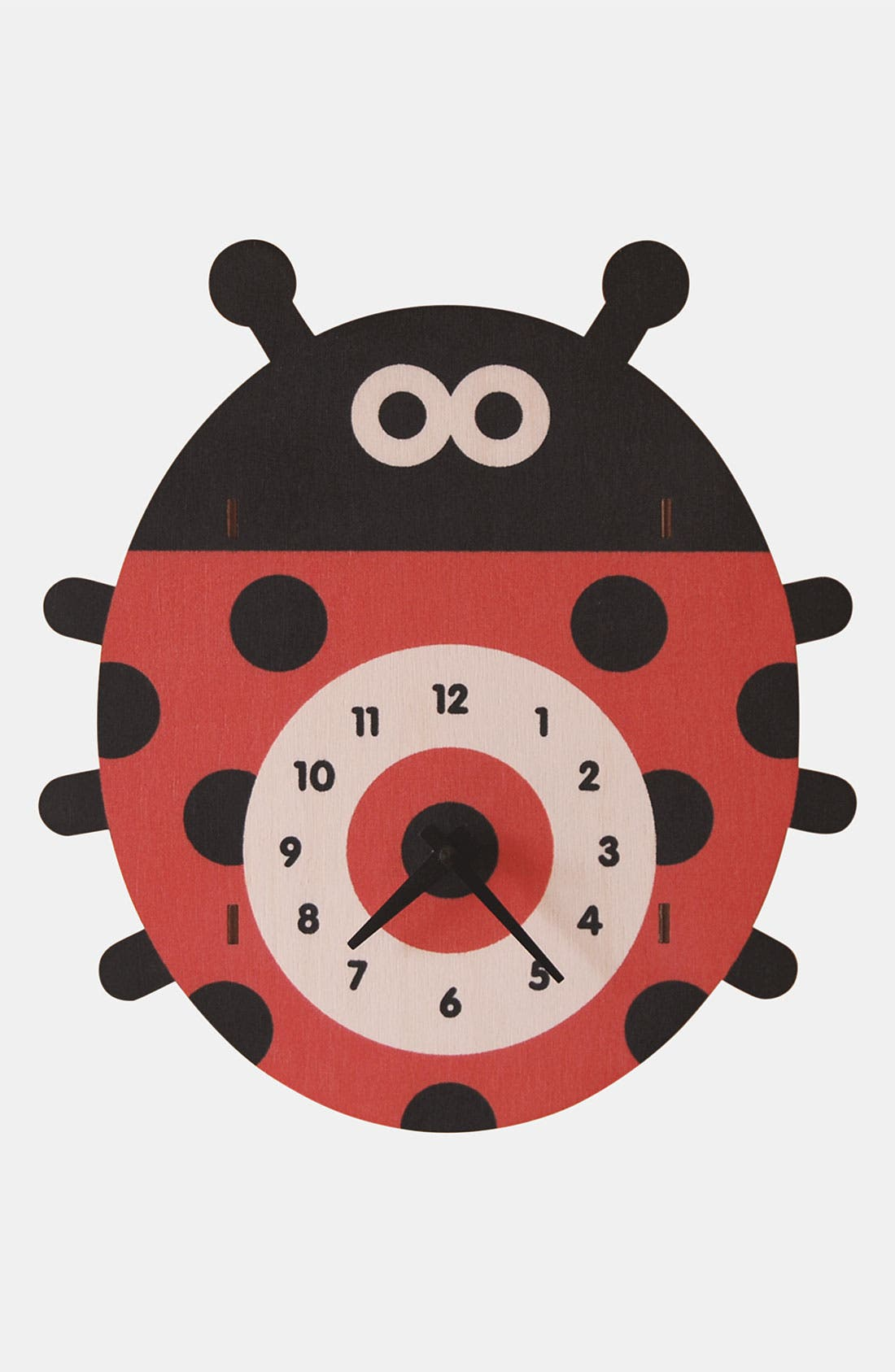 Alternate Image 1 Selected - Modern Moose 'Ladybug' Clock