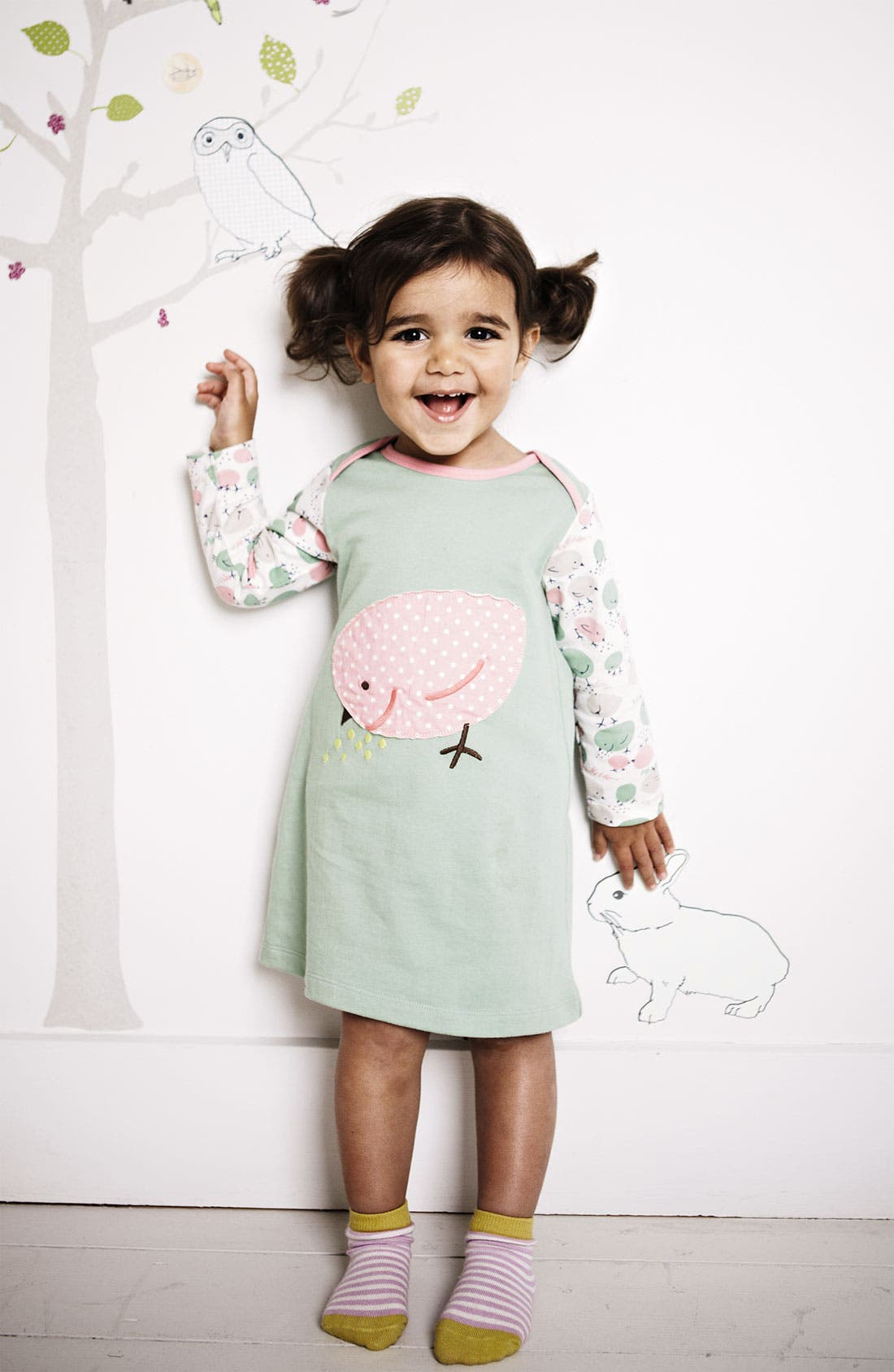 Alternate Image 2  - Mini Boden Appliqué Dress (Baby)