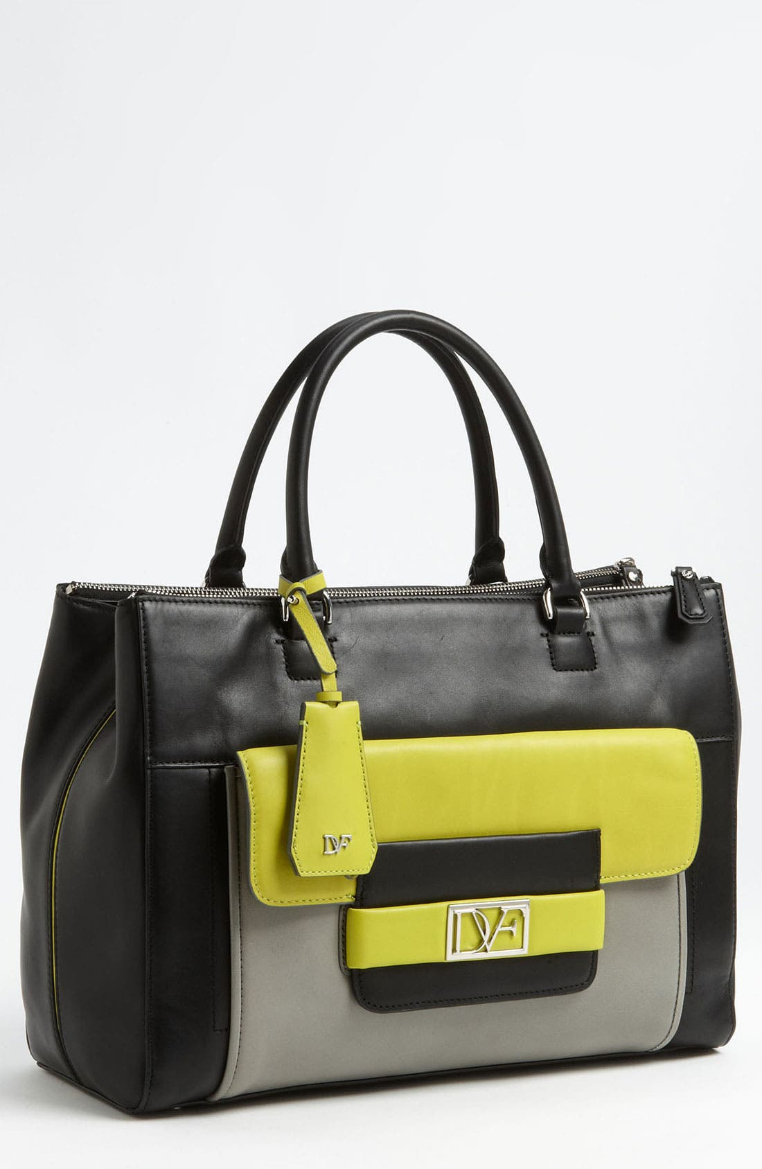 Alternate Image 1 Selected - Diane von Furstenberg 'Eva' Colorblock Tote