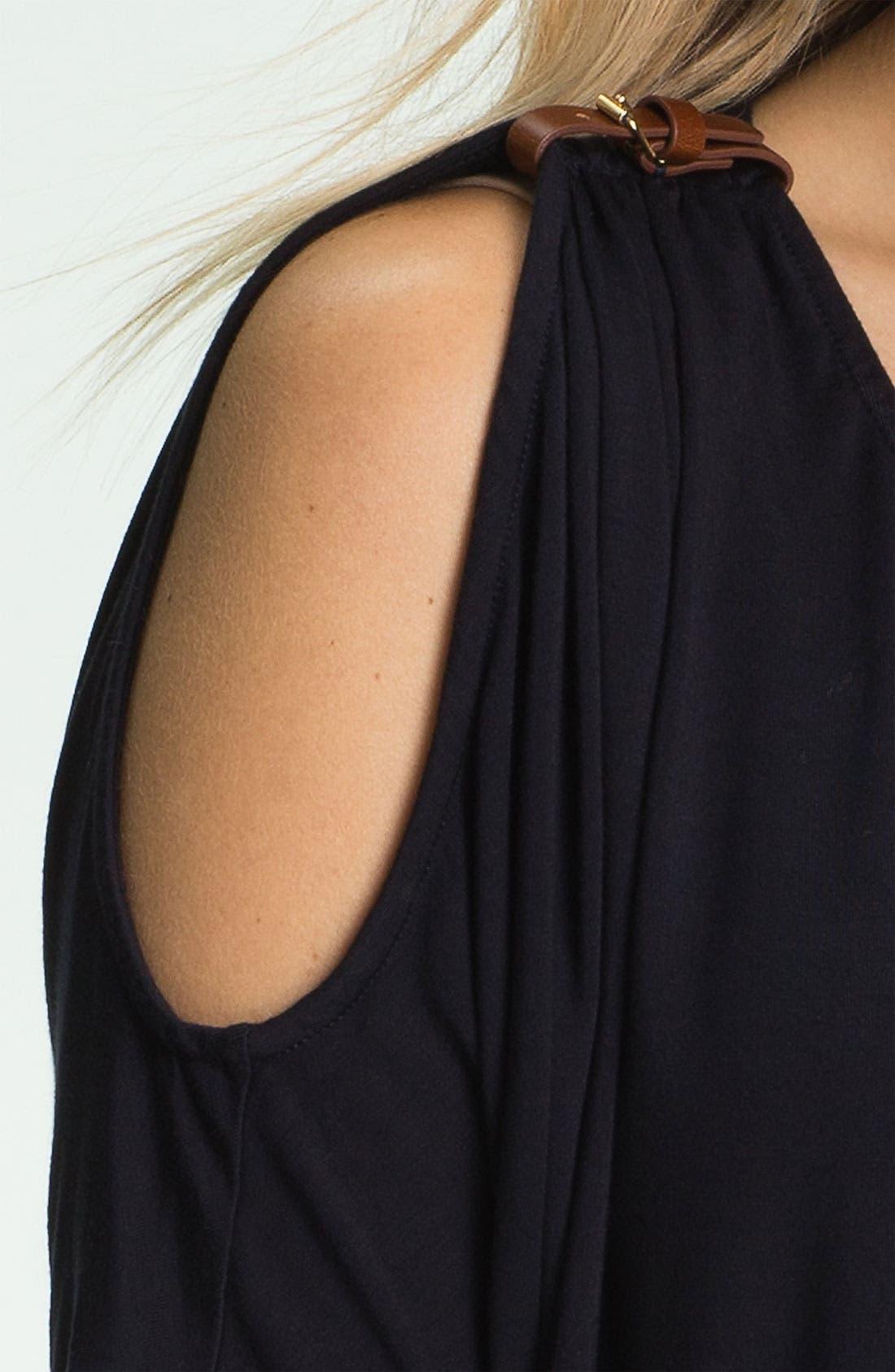 Alternate Image 3  - MICHAEL Michael Kors Cold Shoulder Buckle Top