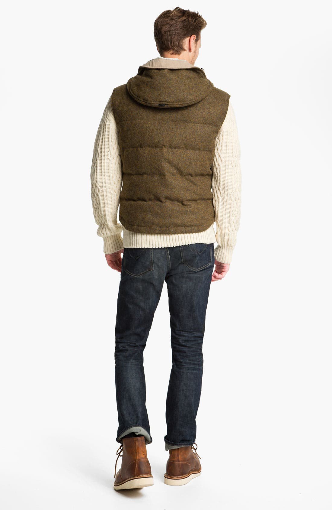 Alternate Image 5  - Hunter Hooded Wool Vest with Down Fill