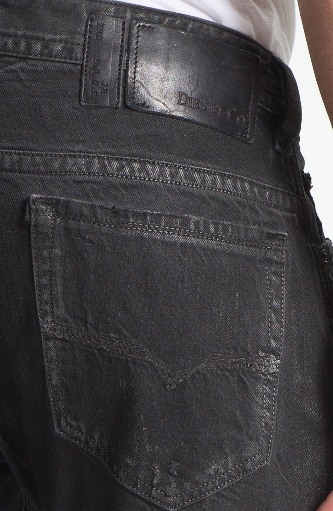 Alternate Image 4  - DIESEL® 'Thavar' Slim Straight Leg Jeans