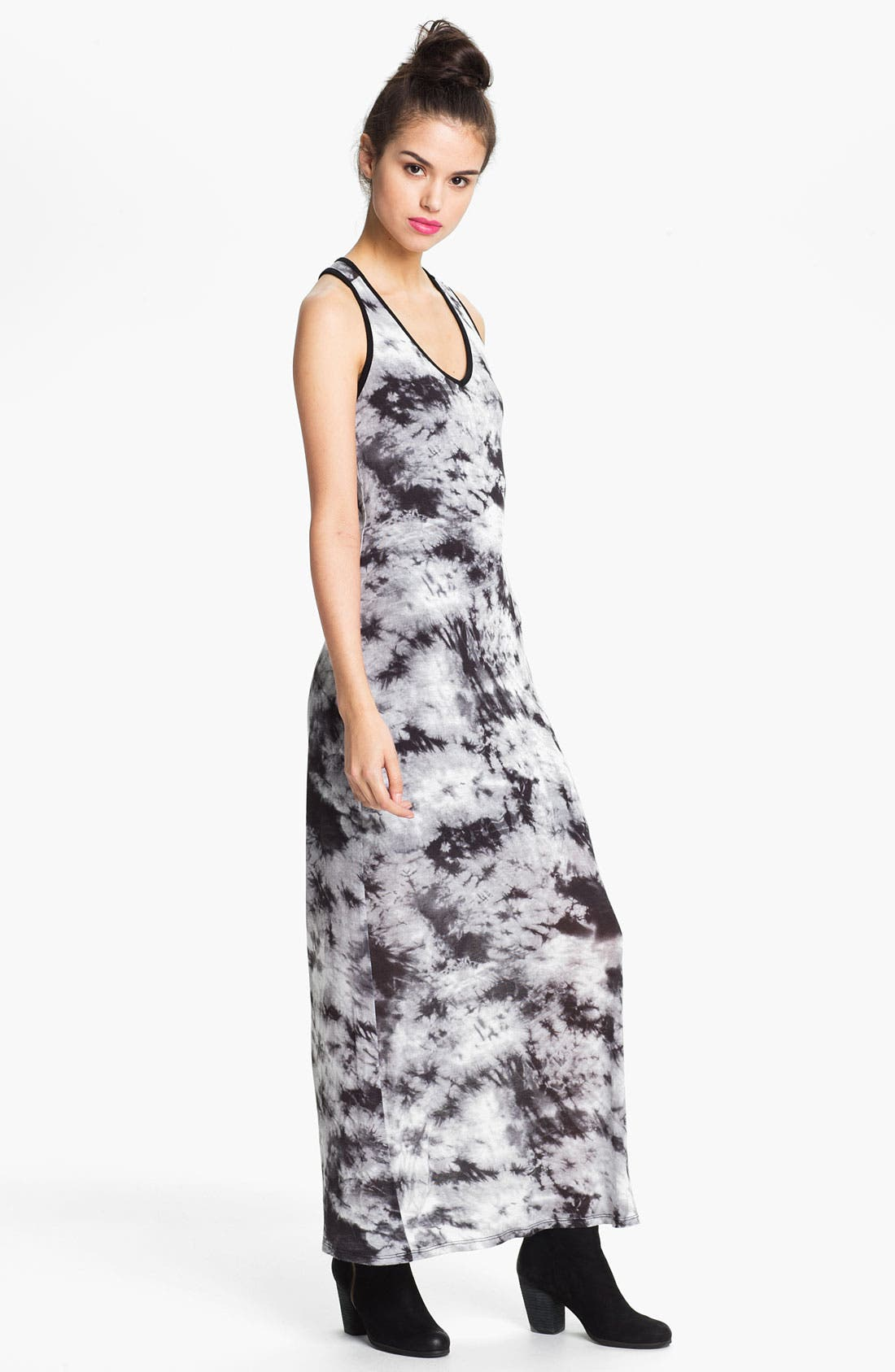 Main Image - Leola Couture Tie Dye Maxi Dress (Juniors)