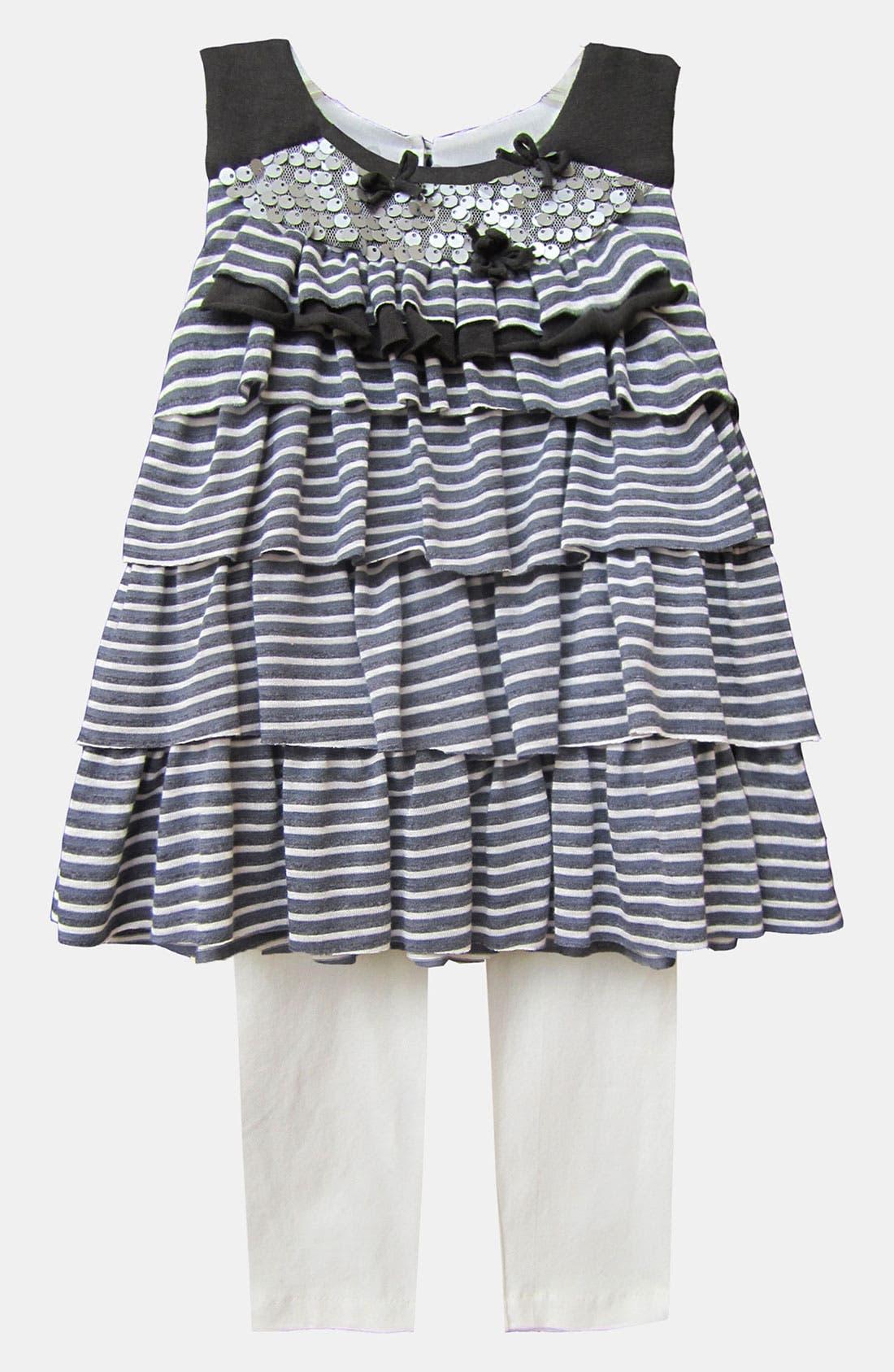 Alternate Image 1 Selected - Isobella & Chloe 'Carmen' Dress & Leggings (Toddler)