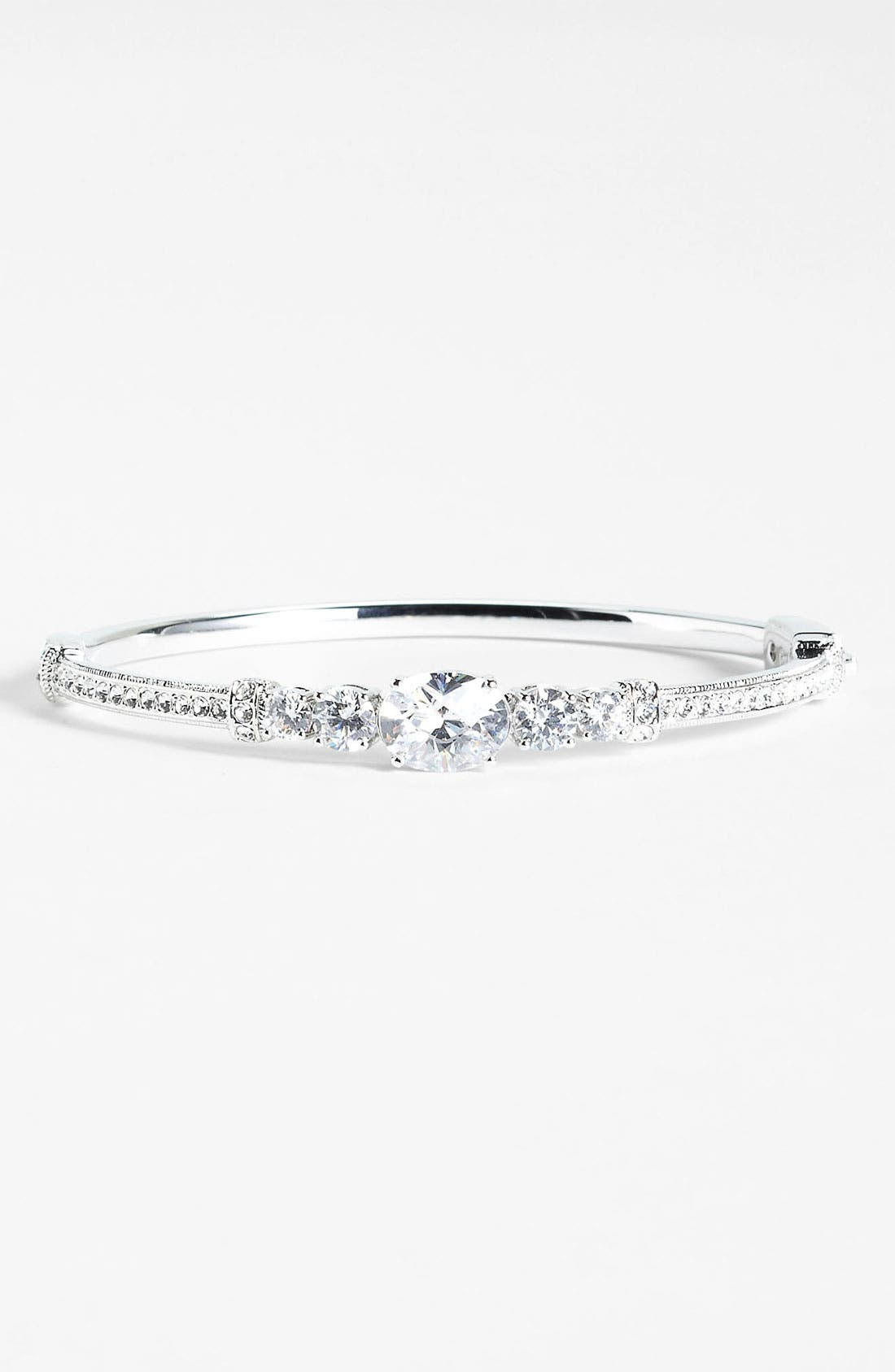 Main Image - Nadri Cubic Zirconia Cluster Bangle (Nordstrom Exclusive)