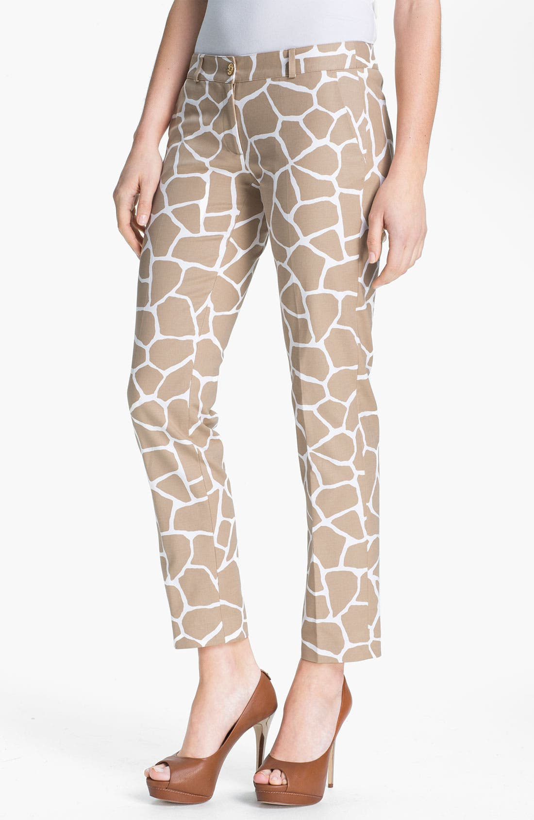 Alternate Image 1 Selected - MICHAEL Michael Kors Giraffe Print Ankle Pants