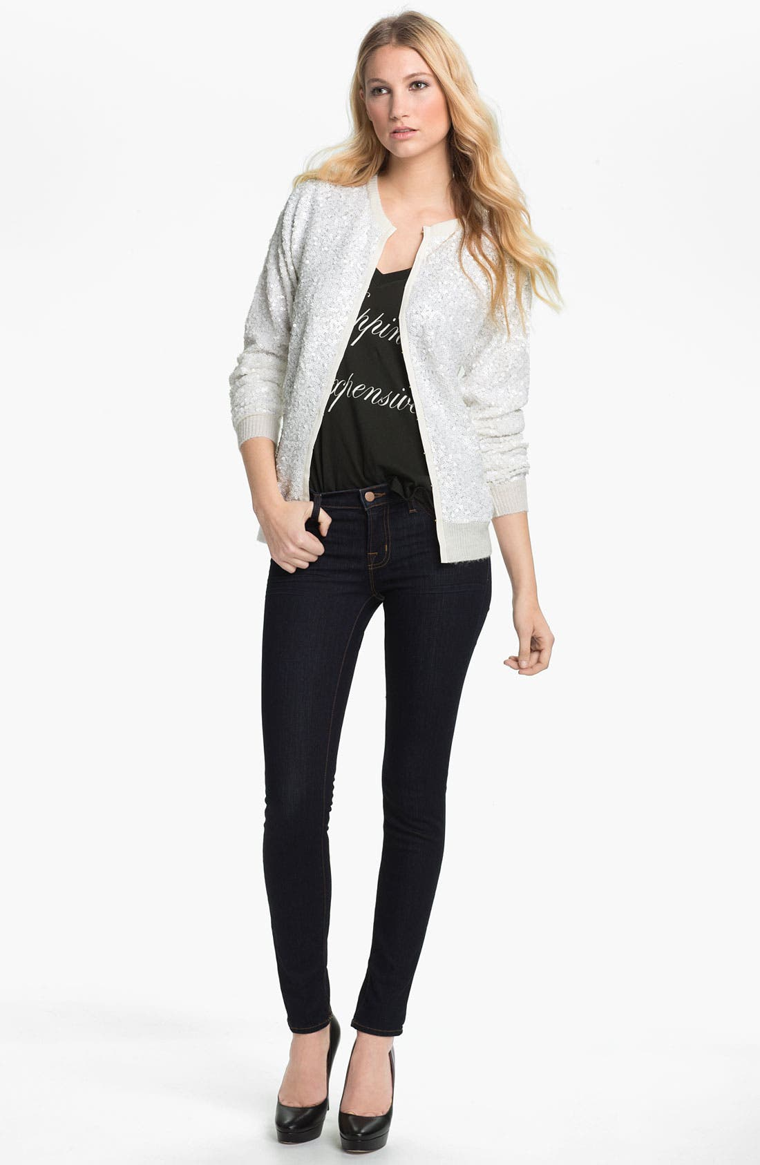 Main Image - Wildfox Sequin Cardigan