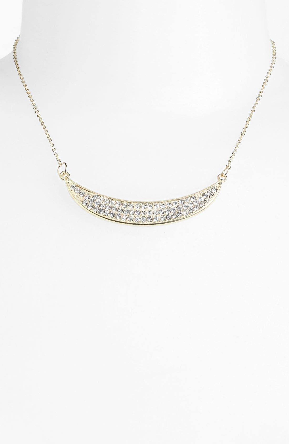 Alternate Image 1 Selected - Carole Rhinestone Crescent Necklace