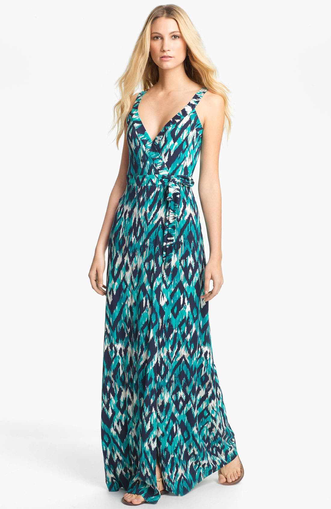 Main Image - Tart 'Camille' Print Wrap Maxi Dress