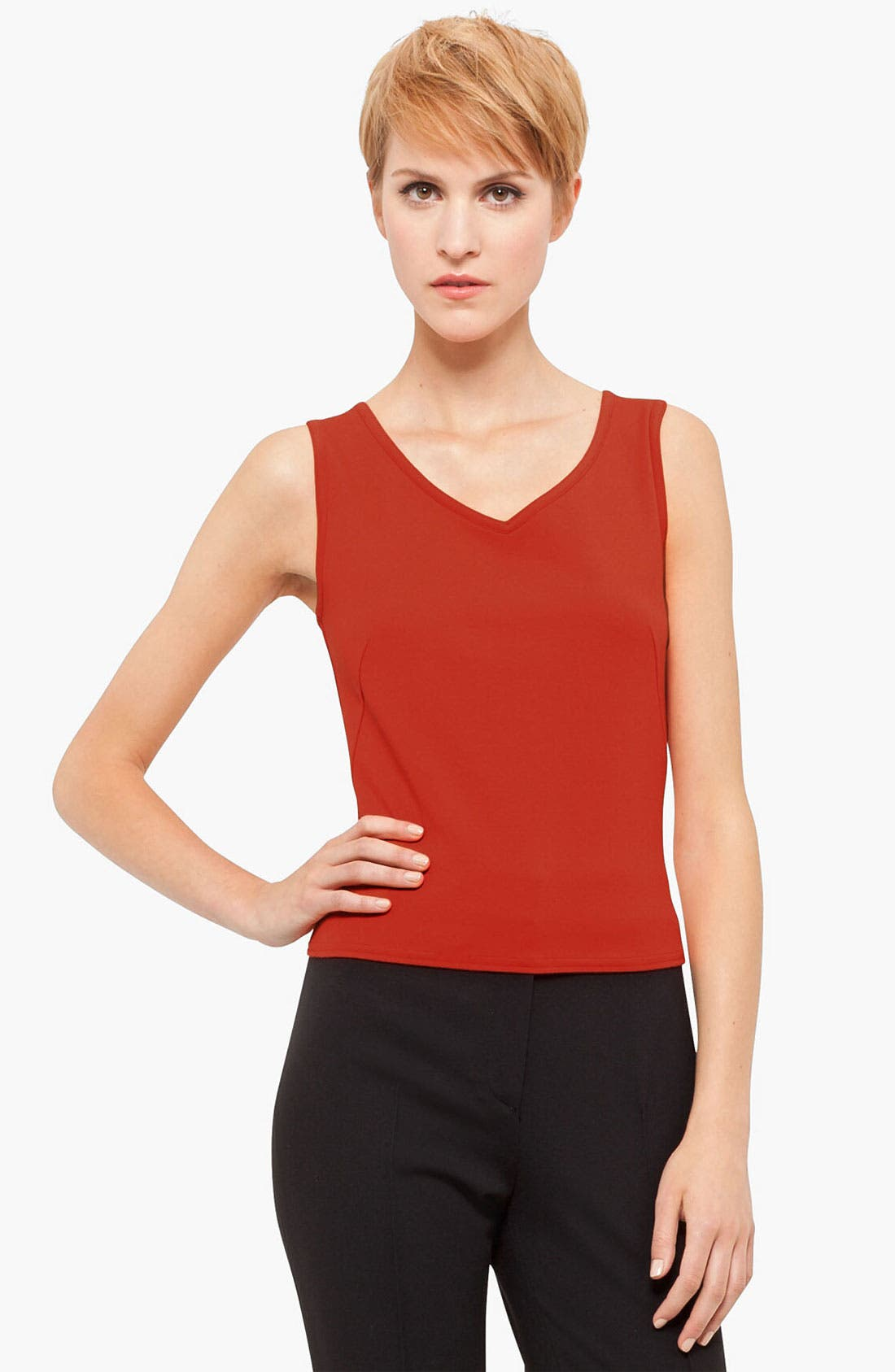 Main Image - Akris punto Stretch Jersey Tank