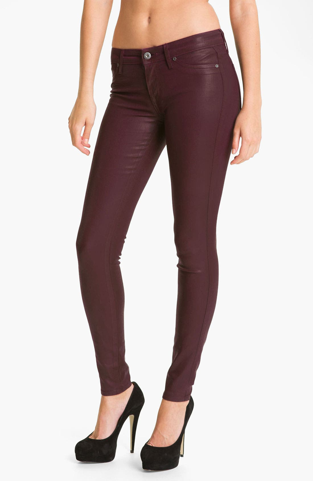Alternate Image 1 Selected - Rich & Skinny 'Legacy Leather' Faux Leather Skinny Jeans (Oxblood)
