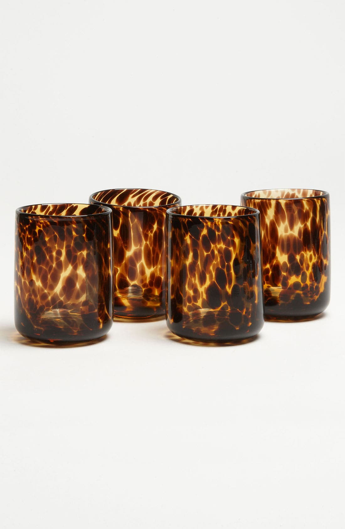 Main Image - 'Tortoiseshell Rocks' Glasses (Set of 4)