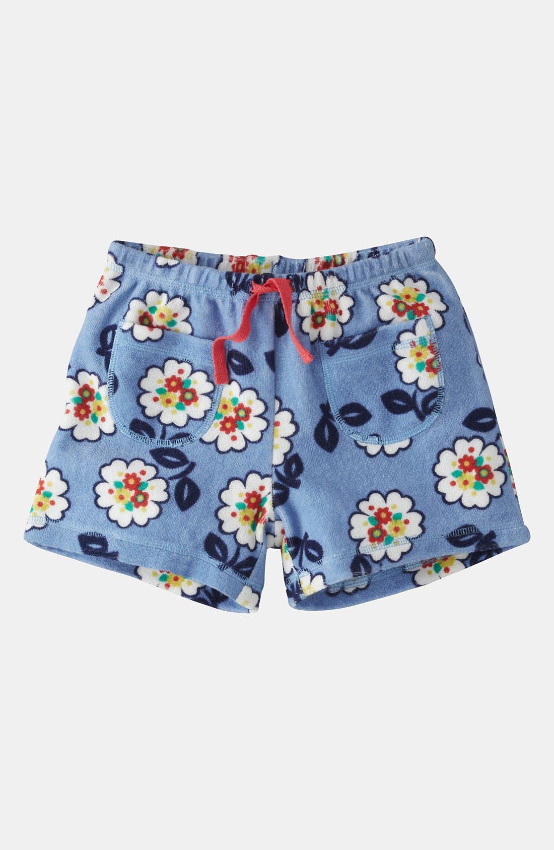 Main Image - Mini Boden 'Toweling' Shorts (Little Girls & Big Girls)