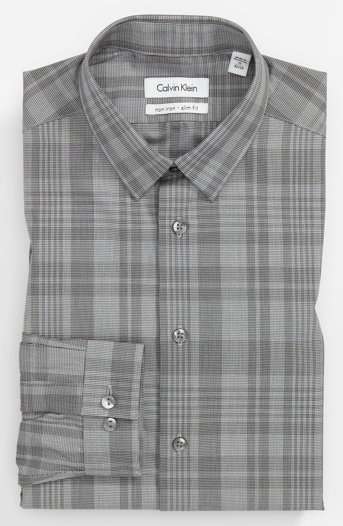 Alternate Image 1 Selected - Calvin Klein Slim Fit Non-Iron Dress Shirt (Online Only)
