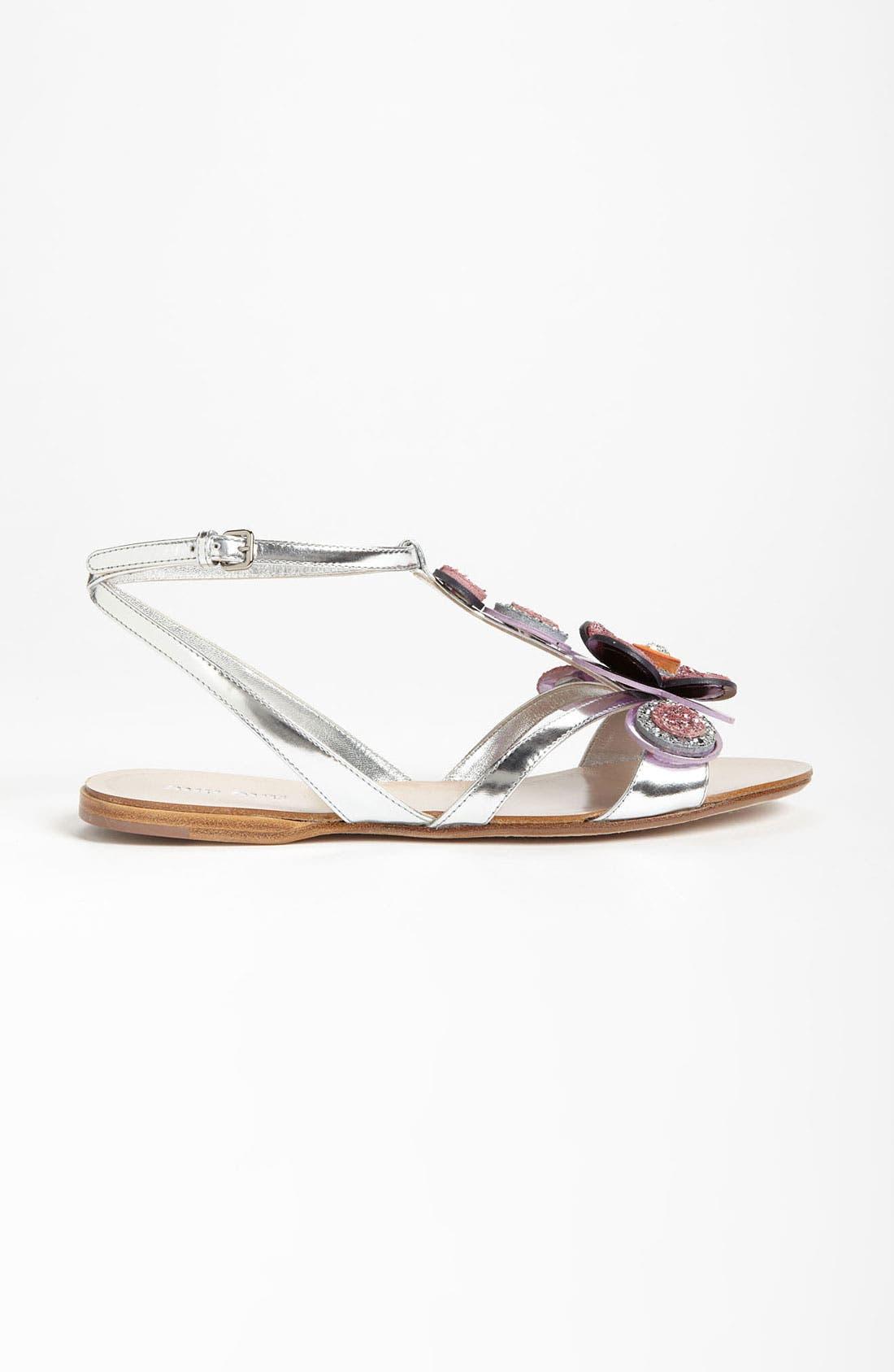 Alternate Image 4  - Miu Miu T-Strap Flower Sandal