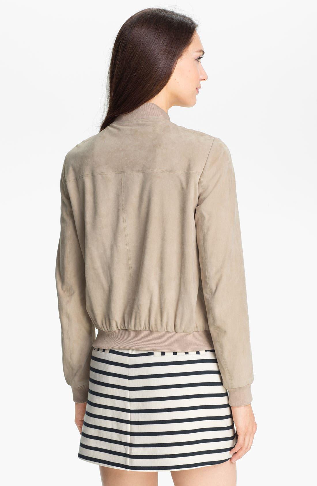 Alternate Image 2  - Theory 'Yudita' Leather Bomber Jacket