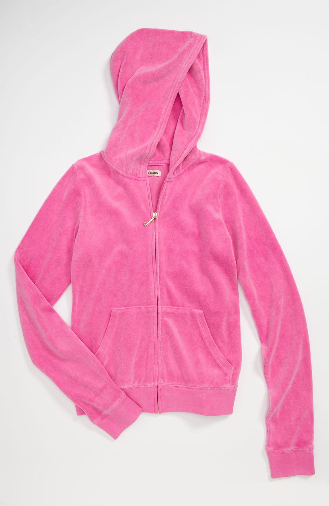 Alternate Image 1 Selected - Juicy Couture Velour Hoodie (Little Girls & Big Girls)