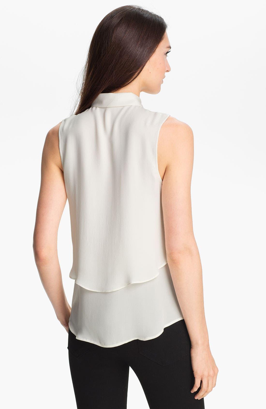 Alternate Image 2  - Theory 'Rosae' Silk Shirt