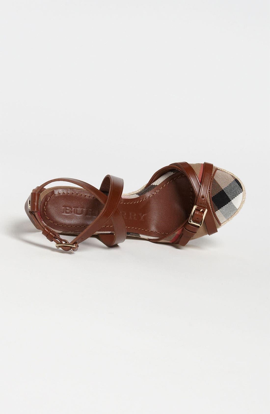 Alternate Image 3  - Burberry 'Walden' Wedge Sandal