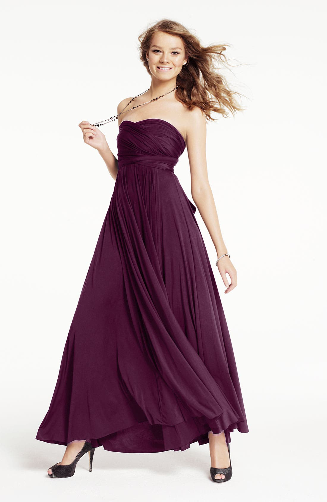 Alternate Image 6  - twobirds Convertible Jersey Gown (Regular & Plus)
