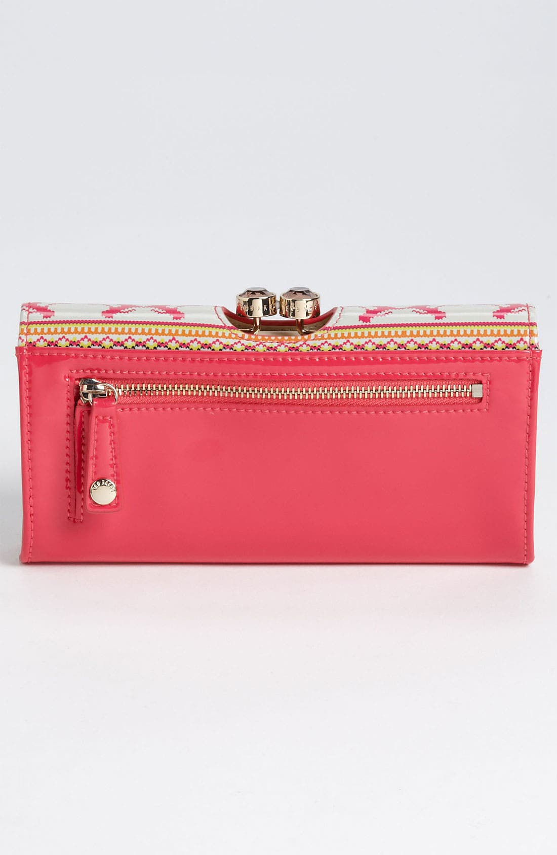 Alternate Image 4  - Ted Baker London Patent Leather Print Wallet