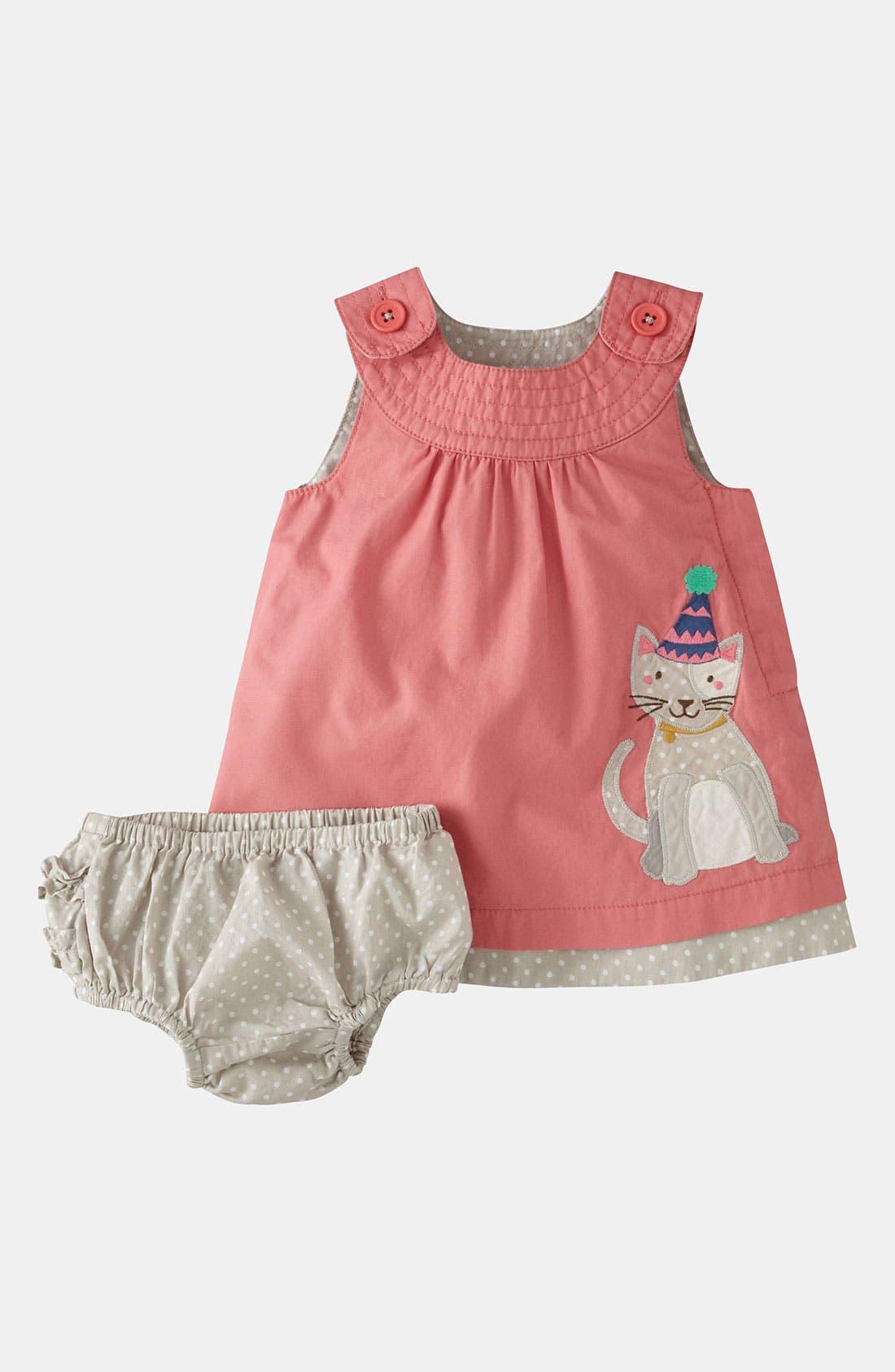 Alternate Image 1 Selected - Mini Boden Appliqué Dress & Bloomers (Infant)