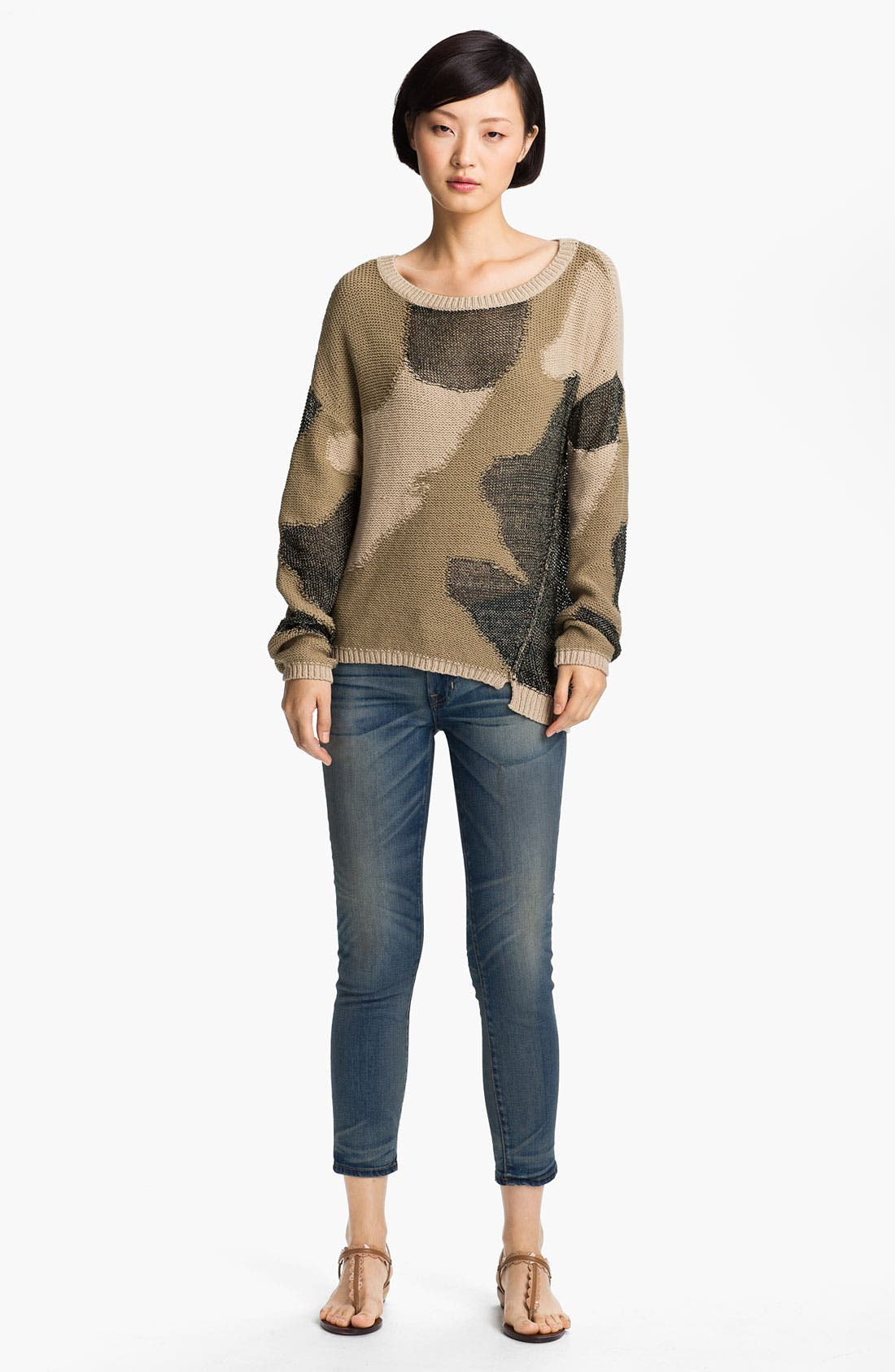 Alternate Image 1 Selected - Zadig & Voltaire Camouflage Intarsia Knit Sweater