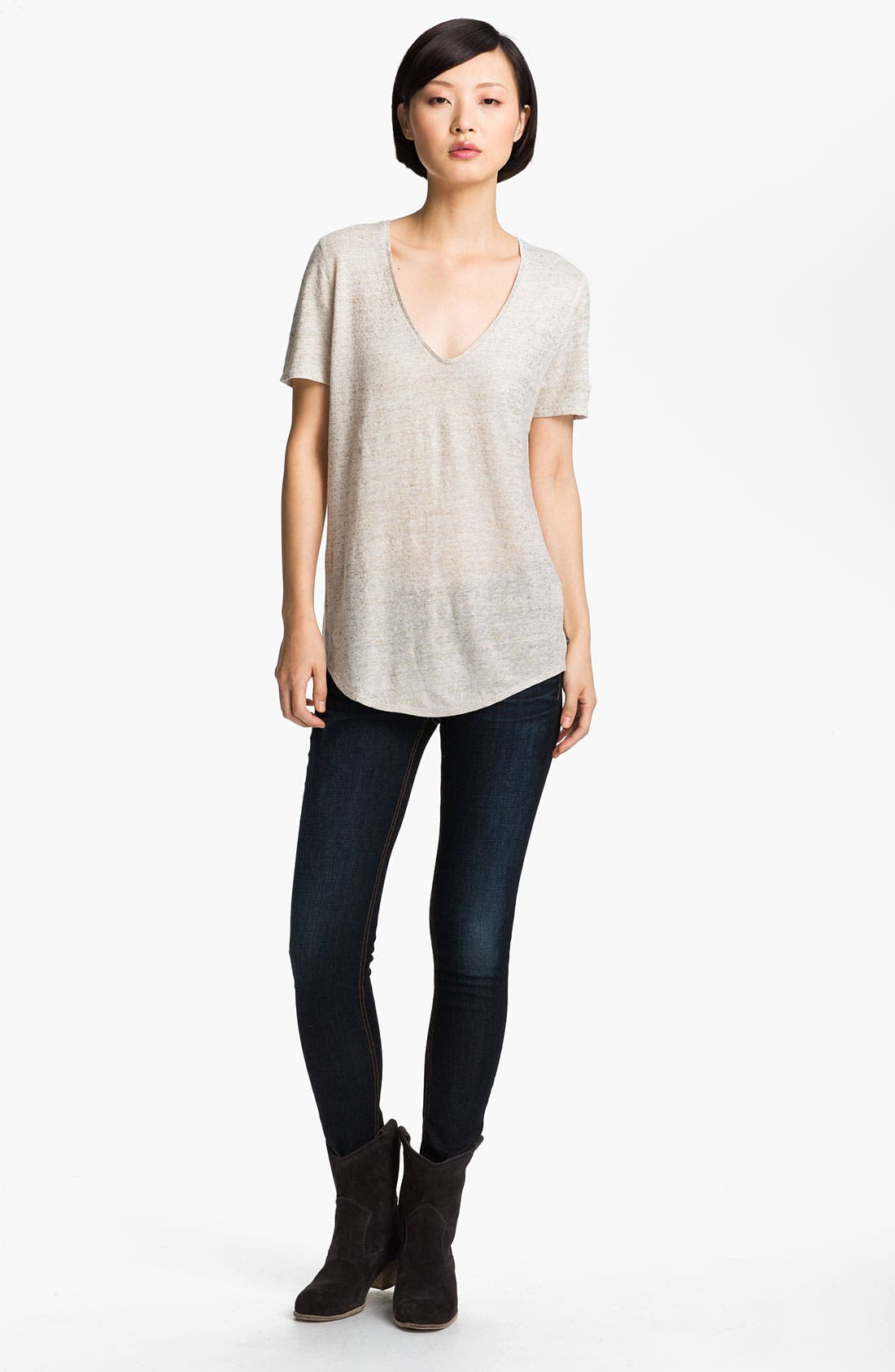 Alternate Image 1 Selected - Zadig & Voltaire 'Tino Lamé' V-Neck Tee