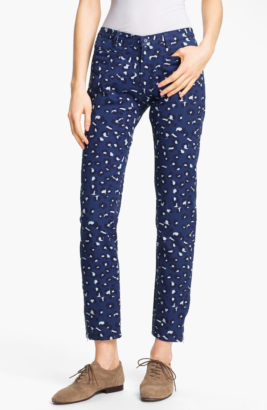 Main Image - A.P.C. Leopard Print Ankle Jeans