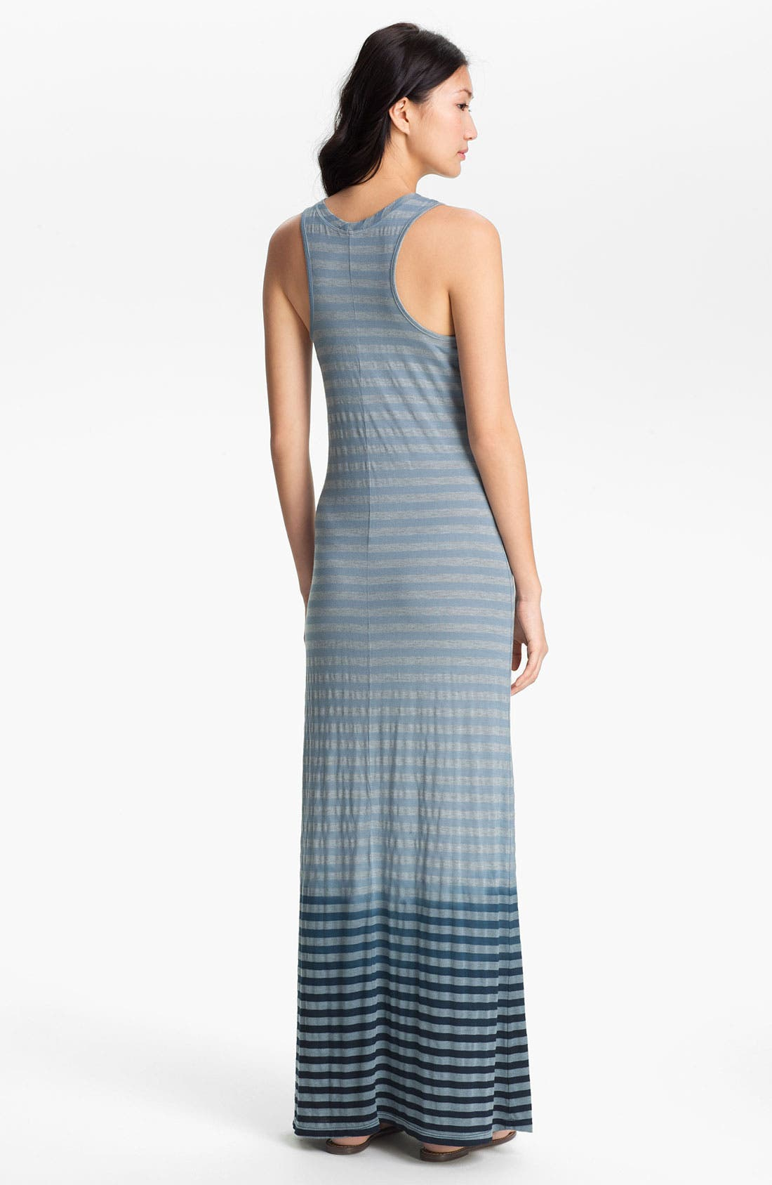 Alternate Image 2  - Allen Allen Ombré Stripe Maxi Dress