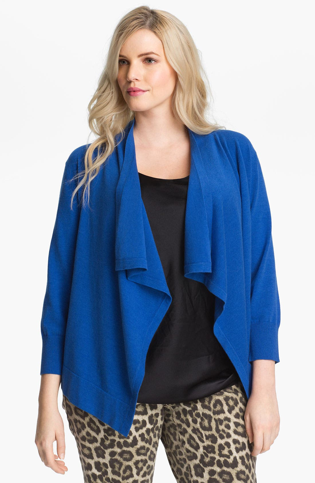 Alternate Image 1 Selected - MICHAEL Michael Kors Drape Front Shrug (Plus)