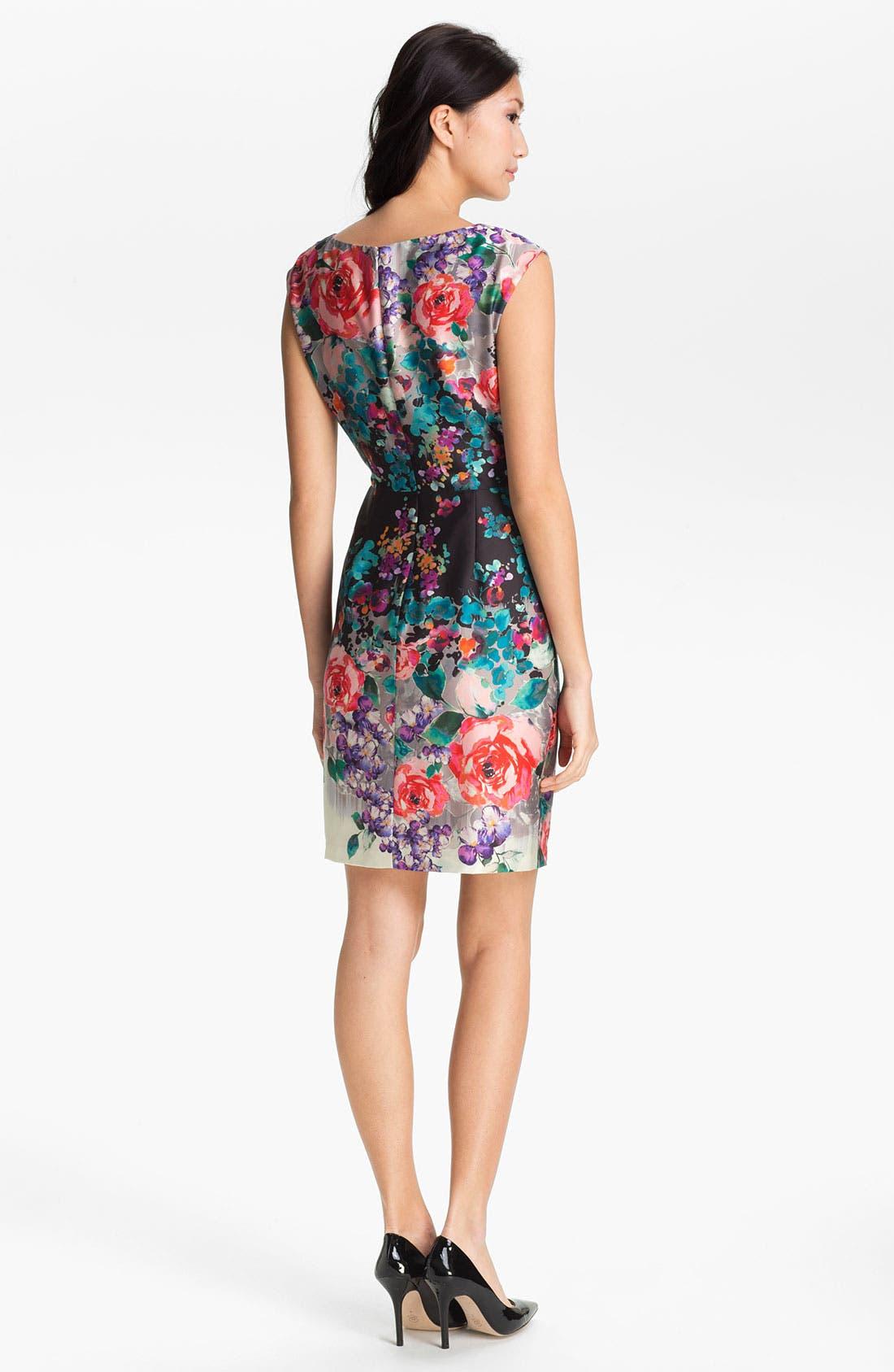 Alternate Image 2  - Suzi Chin for Maggy Boutique Print Sheath Dress