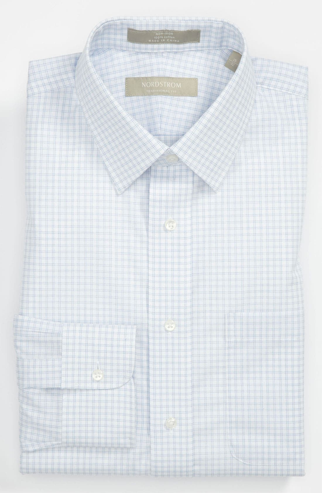 Alternate Image 1 Selected - Nordstrom Traditional Fit Non-Iron Dress Shirt (Online Only)