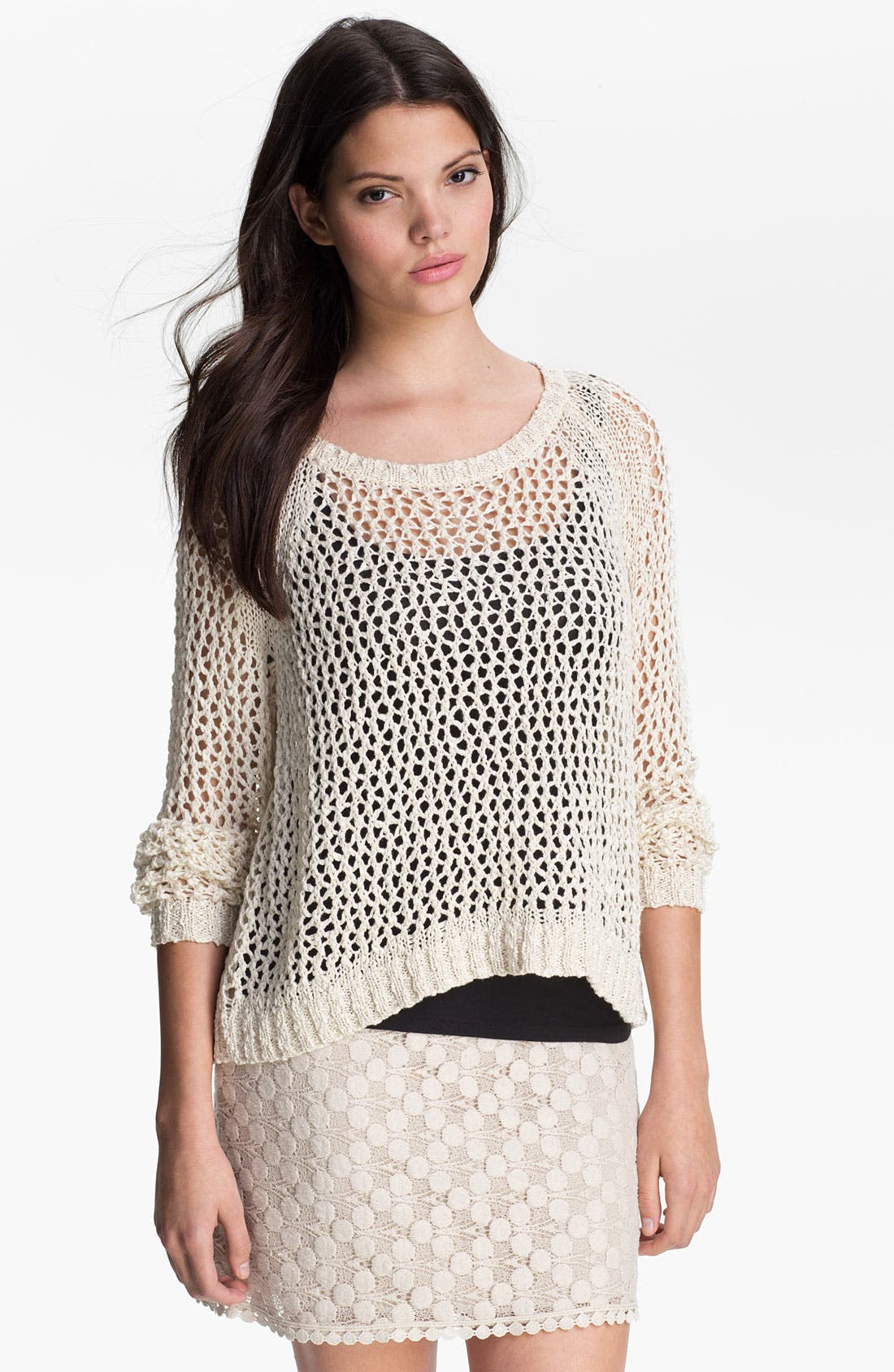 Alternate Image 1 Selected - Kensie Open Stitch Sweater