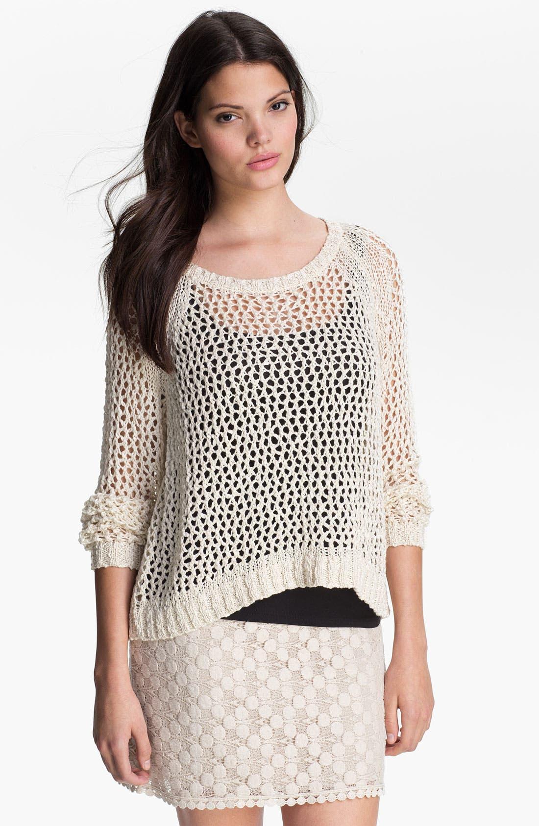 Main Image - Kensie Open Stitch Sweater