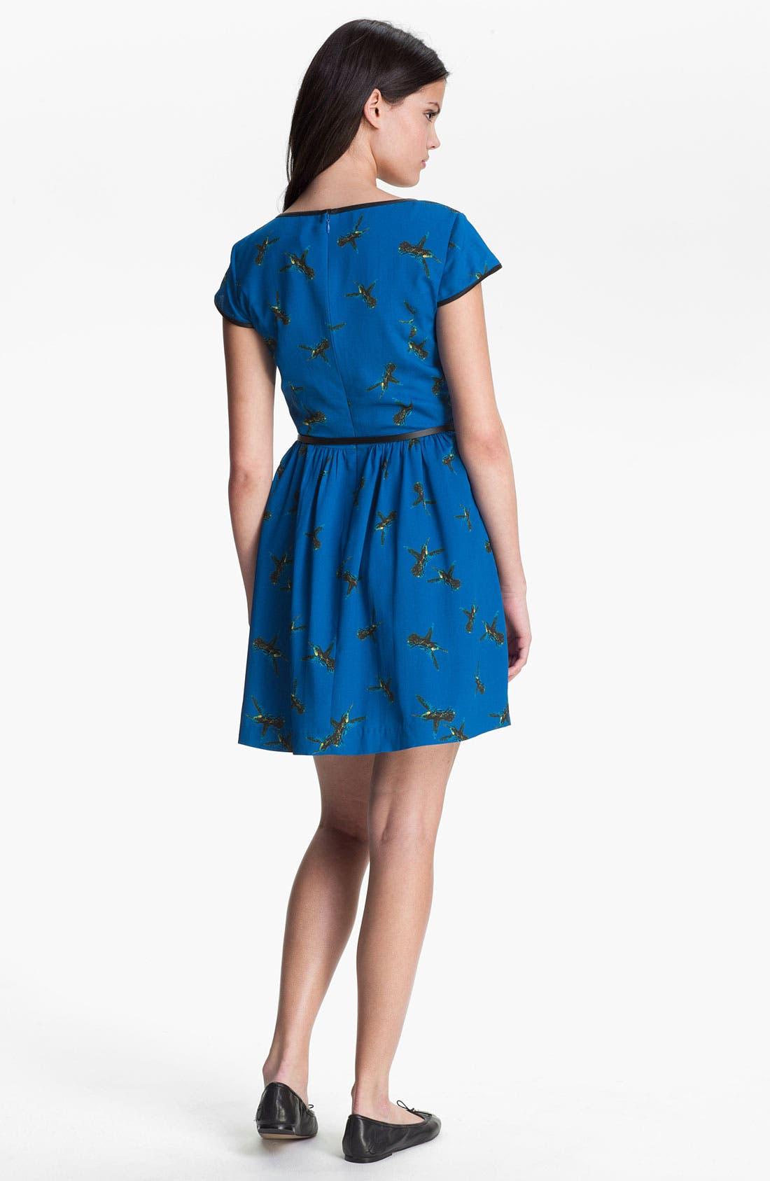Alternate Image 2  - Kensie 'Flying Hummingbird' Dress